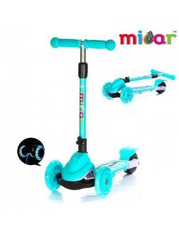 Детский Трехколесный Самокат Scooter Mini Micar Zumba / Голубой