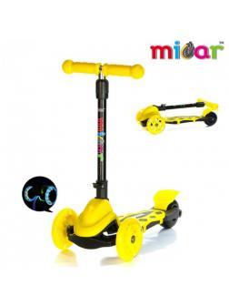 Детский Трехколесный Самокат Scooter Mini Micar Zumba / Жёлтый