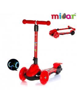 Детский Трехколесный Самокат Scooter Mini Micar Zumba / Красный