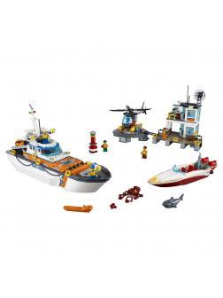 Конструктор Lp «Штаб береговой охраны» 02081 (City 60167) / 855 деталей