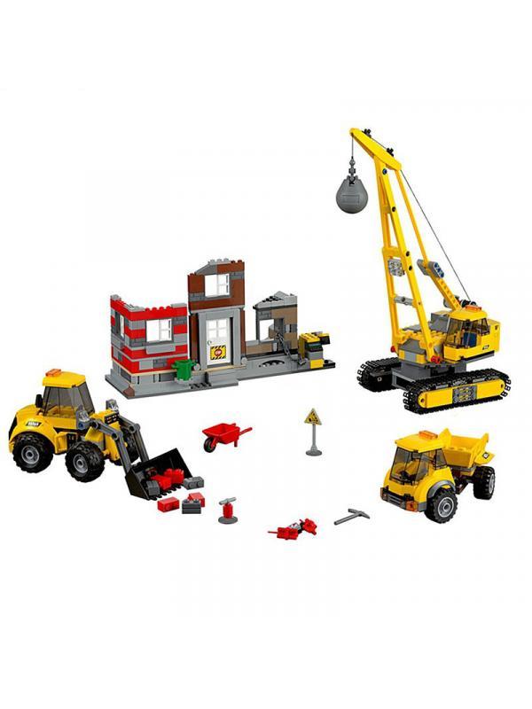 Конструктор Lp «Снос старого здания» 02042 (City 60076) 869 деталей