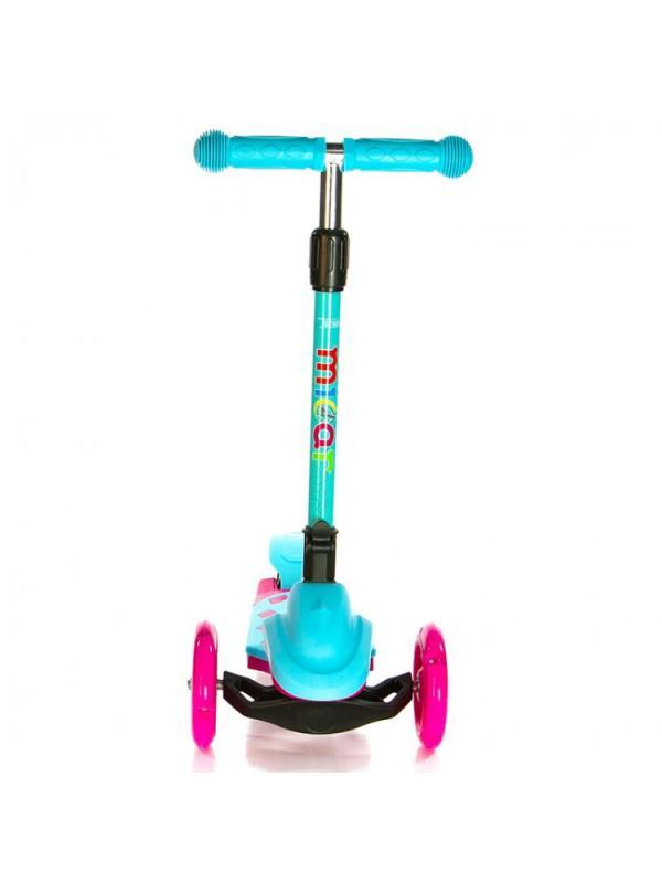 Детский Трехколесный Самокат Scooter Mini Micar Zumba / Розово-голубой