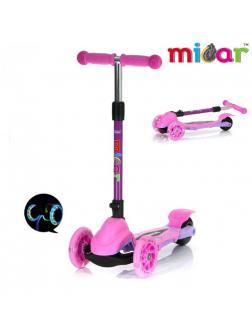 Детский Трехколесный Самокат Scooter Mini Micar Zumba / Розовый