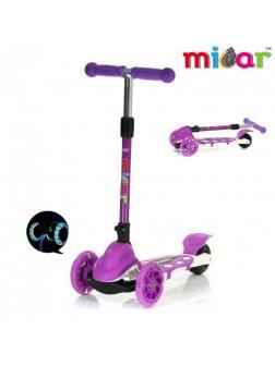 Детский Трехколесный Самокат Scooter Mini Micar Zumba / Фиолетовый