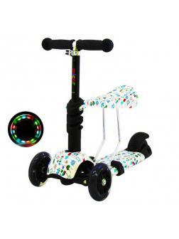 Детский Трехколесный Самокат-беговел Scooter  3 в 1 Scooter Micar Rider / Pixel