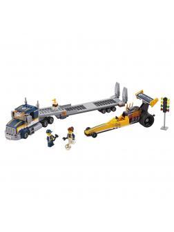 Конструктор Lp «Грузовик для перевозки драгстера» 02025 (City 60151) / 360 деталей