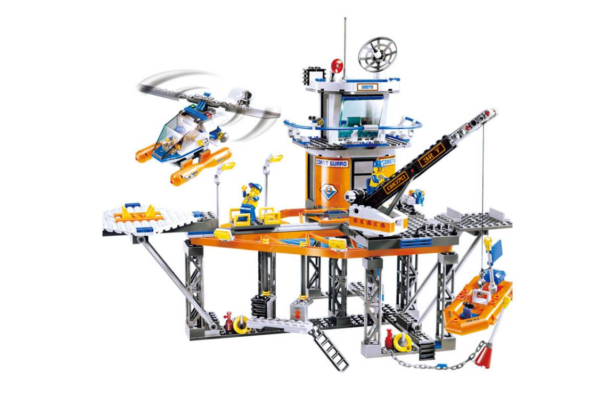Конструктор Lp Сити «Платформа береговой охраны» 02070 (City 4210) 492 детали