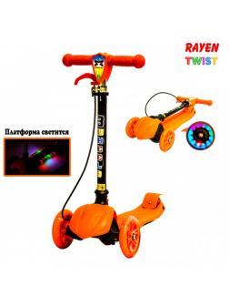 Детский Трехколесный Самокат Scooter Rayen Twist / Оранжевый