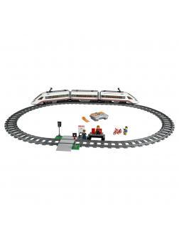 Конструктор Lp «Скоростной пассажирский поезд» 02010 (City 60051) / 610 деталей