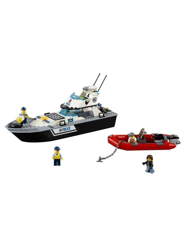 Конструктор Lp Сити «Полицейский патрульный катер» 02049 (City 60129) 200 деталей
