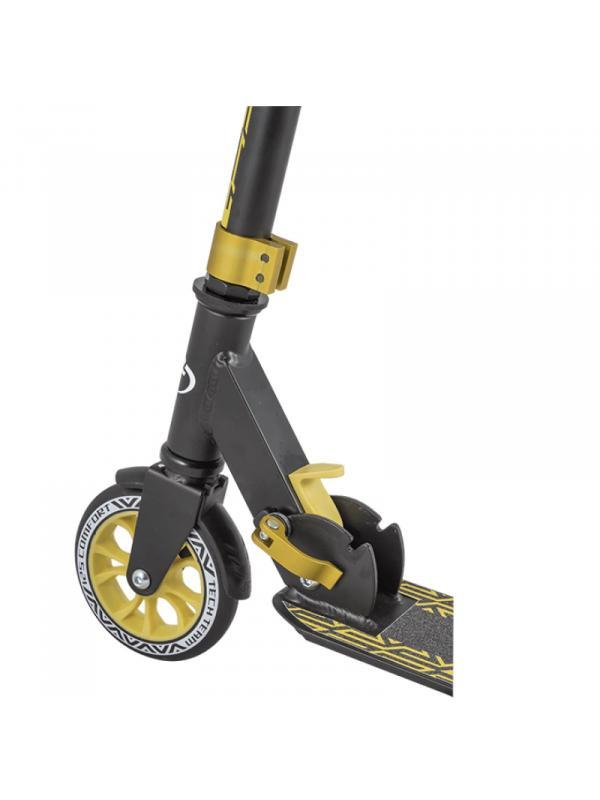 Детский Складной Самокат Comfort 125R 2020 / Черно-золотой