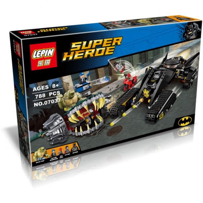 Конструктор Lp Super Heroes «Разгром в канализации убийцы Крока» 07037 (Super Heroes 76055) 788 деталей