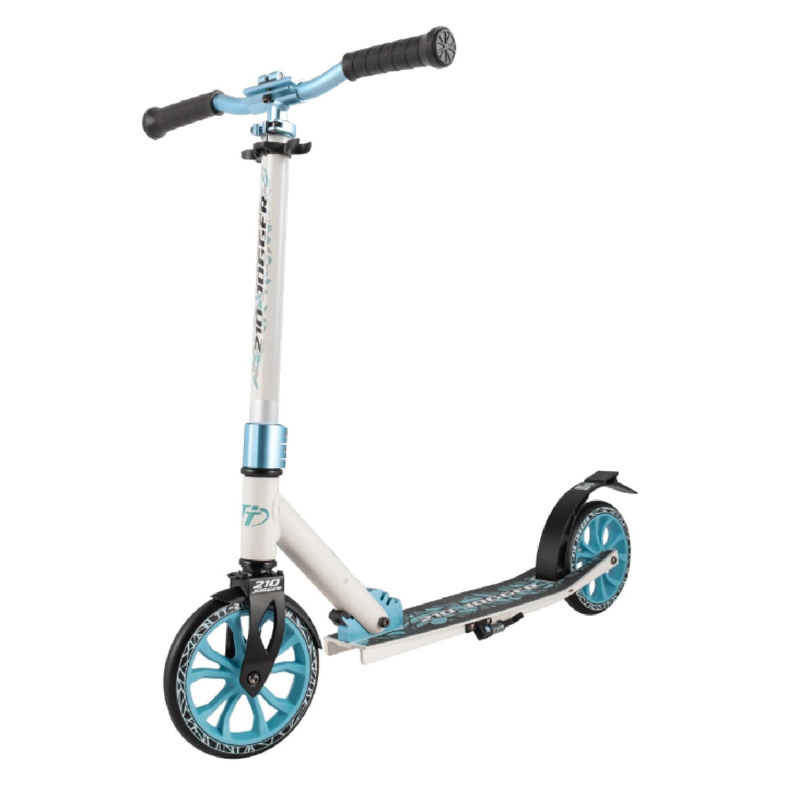 Детский складной самокат TechTeam Jogger 210 2020 / Бело-голубой