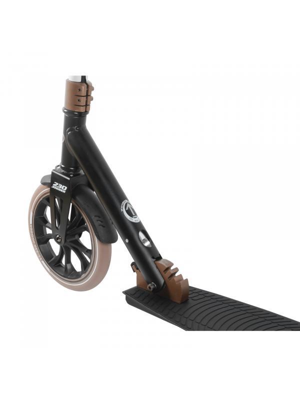 Детский складной самокат TechTeam Jogger 230 2020 / Черно-коричневый