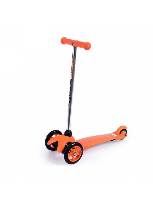 Детский Трехколесный Самокат MINI Оранжевый