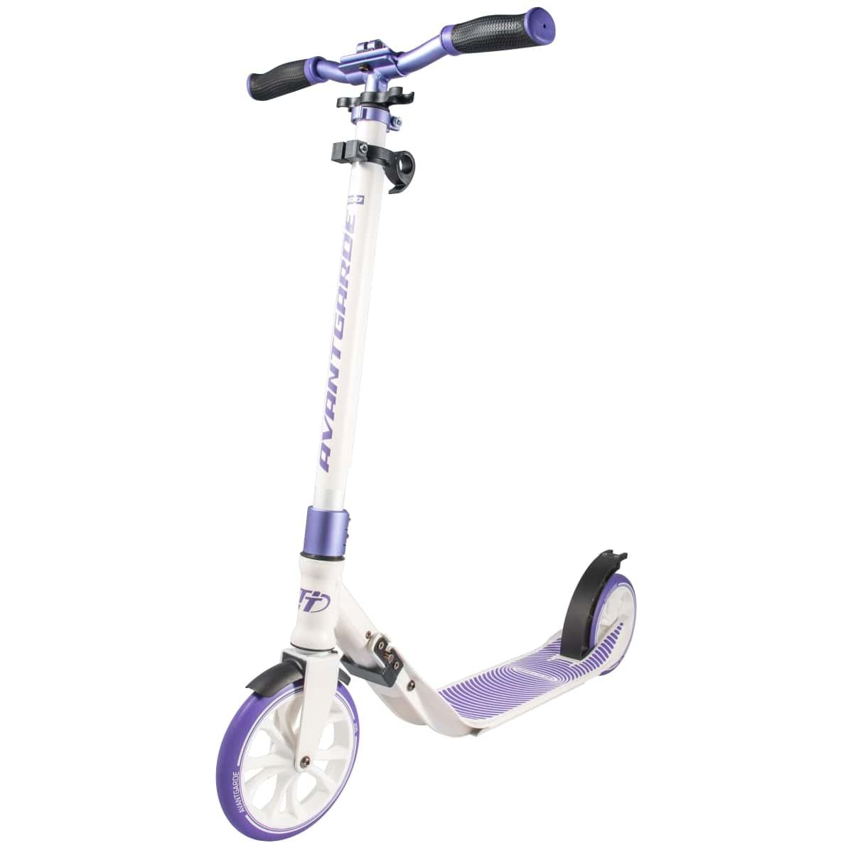 Детский Складной Самокат Avantgarde 200 / Бело-фиолетовый