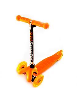 Детский Трехколесный Самокат MINI Flash Оранжевый
