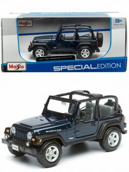 Металлическая машинка Maisto 1:27 «Jeep Wrangler Rubicon» 31245 Special Edition / Темно-синий