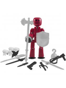 Набор Фигурка Стикбот с оружием и аксессуарами Красный
