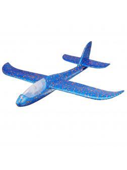 Метательный Самолет-Планер Светящийся 48см. Синий