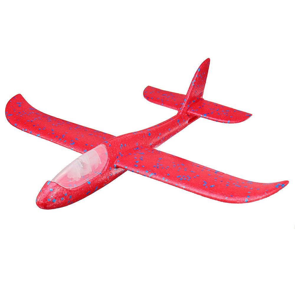 Метательный Самолет-Планер Светящийся 48см. Красный