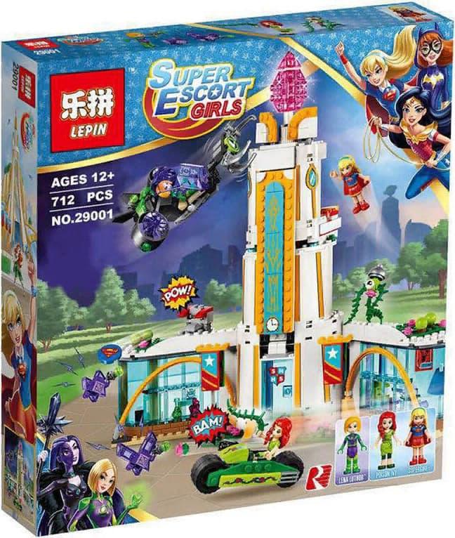 Конструктор Lp «Школа Супергероев» 29001 (Super Hero Girls 41232) / 712 деталей