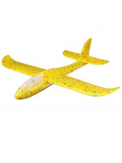 Метательный Самолет-Планер Светящийся 48см. Оранжевый
