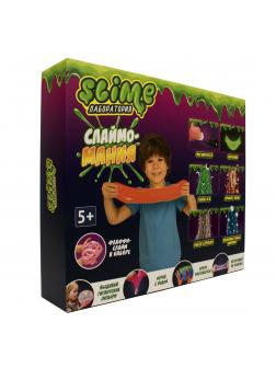 Большой набор для Мальчиков Slime Лаборатория «Слаймо-Мания» / 300 гр.