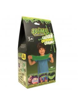 Малый набор для Мальчиков Slime Лаборатория «Светящийся», Зеленый 100 гр.